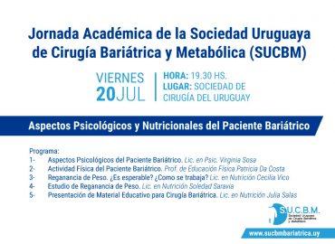 Jornada Académica de la Sociedad Uruguaya de Cirugía Bariátrica y Metabólica (SUCBM)